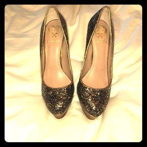 Sparkling platform shoes